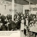 Le réfectoire de La Mie de Pain au début du XXème siècle