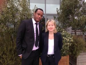 Oumar Diawara et Isabelle Reux-Brown