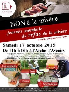 Affiche 17 octobre 2015 à l'Arche d'Avenirs
