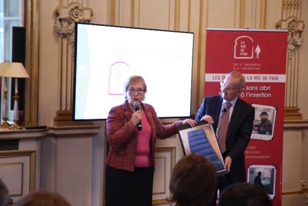 Marianne Storogenko à l'Ambassade de Grande Bretagne