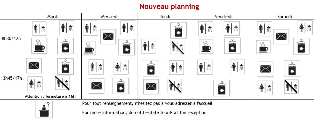 Planning Arche Avenirs